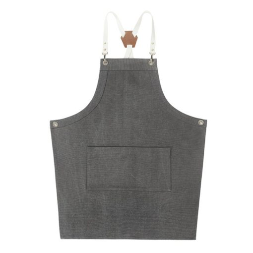 Canvas Apron Crossback Cotton Leather Strap