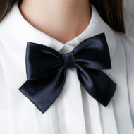 2pcs Female Polyester Bow Tie Catering Neck Tie