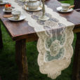 Vintage Embroidered Velvet Table Runner