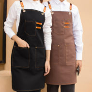 Denim Apron Canvas Work Wear Crossback Strap