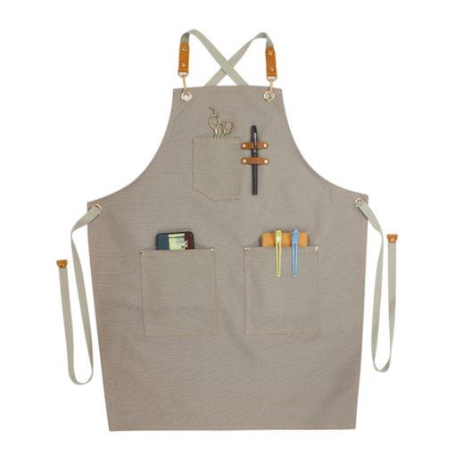 Denim Apron Canvas Work Wear Crossback Strap