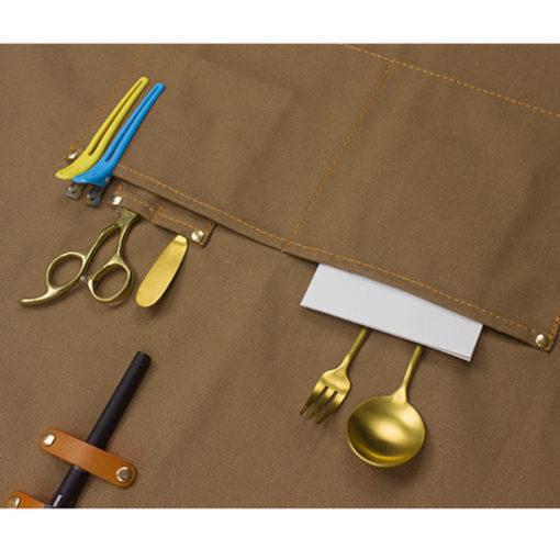 Canvas Apron Denim Work Wear Crossback Strap