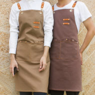 Canvas Apron Denim Work Wear Crossback Strap