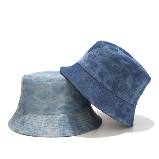 Denim Bucket Hat Fishing Boonie Beach Sun Cap