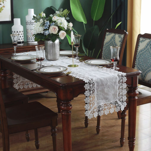 Vintage White Lace Table Runner