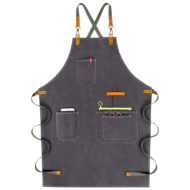 Waterproof Canvas Apron Leather Cotton Strap