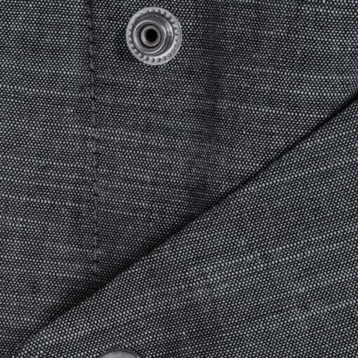 Gray Polyester Cotton Short Sleeve Chef Shirt