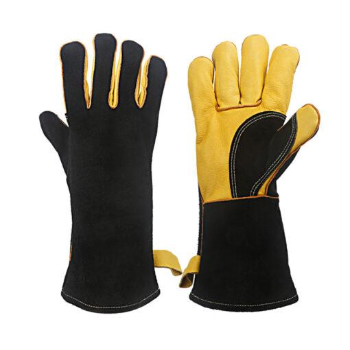BBQ Cowhide Leather Gloves Florist Work Wear