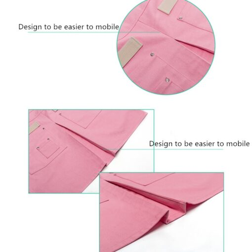 Pink Purple Canvas Apron Crossback Cotton Straps