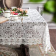 Vintage Embroidery Tablecloth Elegant Table Cover