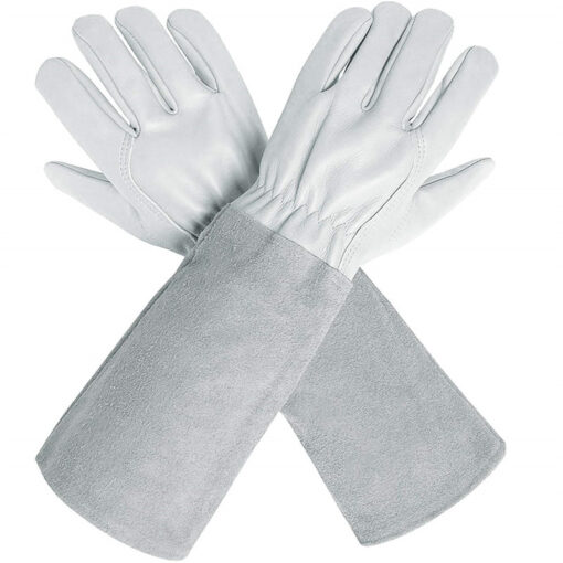 Long Goatskin Leather Gardening Gloves