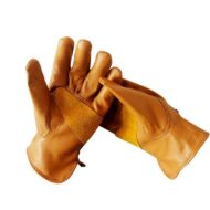 Brown Goatskin Leather Gloves Florist Garden Mitt