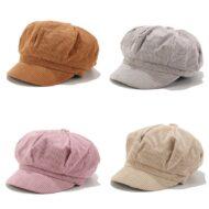Corduroy Newsboy Cap Outdoor Sun Hat