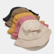 Cotton Bucket Hat Fisherman Cap Beach Sun Hat