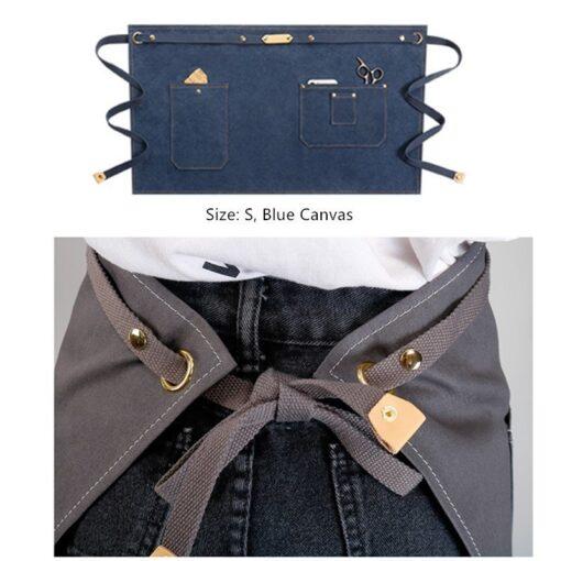 Canvas Waist Apron Denim Workwear Cotton Straps