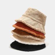 Corduroy Bucket Hat Fisherman Cap Winter Sun Hat